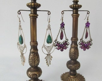Pair 1940's Jeweler's Earring Display Stands