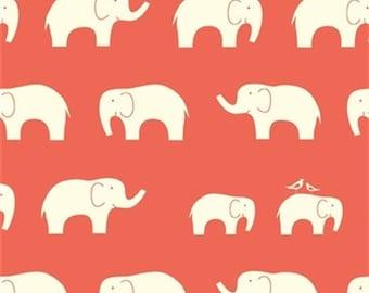 Coral Elephant Family Organic Knit From Birch Organic Fabrics - Choose Your Cut