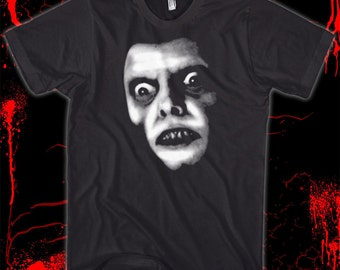 Captain Howdy - The Exorcist - GLOWS IN the DARK! Pre-shrunk, hand screened 100% cotton t-shirt