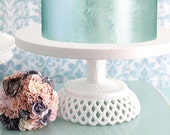 Wedding Cake Stand 16 inch - Victorian Inspired Pedestal / Wedding Cupcake Stand / Vintage Cake Stand for White Lace Weddings