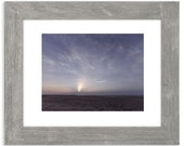 Moonrise over the Atlantic Matted Print