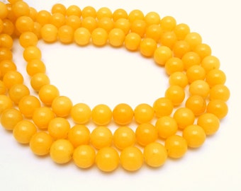 Yellow Quartz Round Beads -- 11mm Yellow Quartz Round Beads-- 1 STRAND (S70B6b-06)