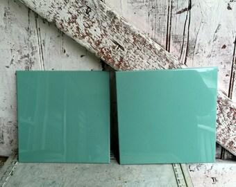 Bathroom Kitchen tiles spruce vintage Green bathroom or kitchen wall lot of 10 Church Tile Royalton 8 1/2'' x 8 1/2''