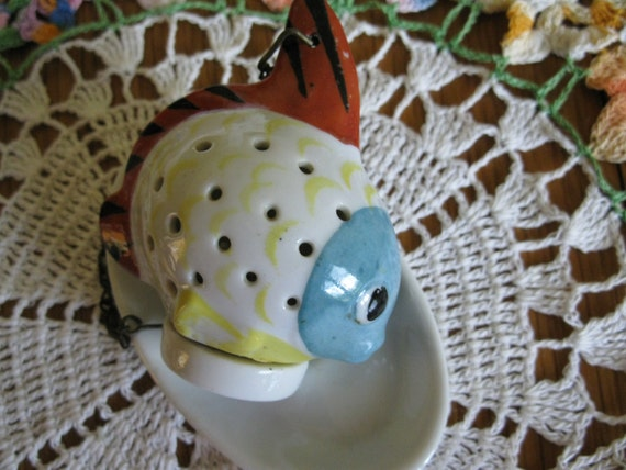 Vintage china fish tea infuser germany china by oldwellhouse for Fish tea bags
