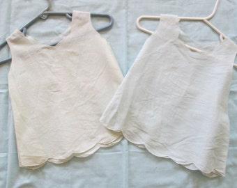 Vintage Baby Toddler Dress Slip Organdy  Size 1T 12M