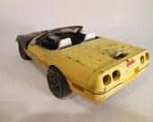 Classicwrecks, Scale Model Car, Yellow Corvette, rustedWreck,RatRod,BarnFind,