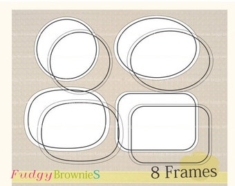 ON SALE Digital frame, Line Frames clipart, digital scrapbooking frames.A-10 ,  Instant download