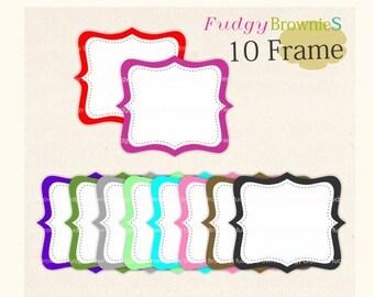 ON SALE frame clip art , digital clip art  frame,  white background square frames, digital scrapbooking frames.A-12 , Instant download Frame