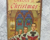 Vintage Carols for Christmas Paper Booklet Illustrated in Color