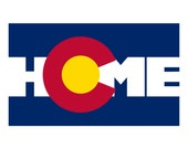 Colorado Flag Bumper Sticker - Home