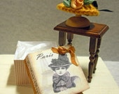 SALE! Miniature Crocheted Lady's Hat and Hatbox