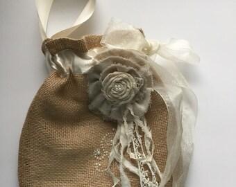 Dollar DANCE BRIDAL BAG with jewel embellished flower