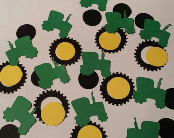 Tractors and tires wheels confetti  birthday party or baby shower