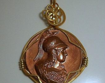 France Joan of Arc Vintage  Medallion 1940's era
