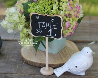 Wedding Chalkboard Sign, Table Number, Wedding Sign, Table Stand BHLDN Wedding Decoration, Rustic Wedding Decor, Reusable, Vintage Wedding