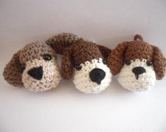 Crochet keychain dog, crochet dog, cute dog, keychain, amigurumi, handmade, crochet keychain, dog