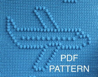 Airplane Baby Blanket Pattern - Crochet Pattern - Crochet Baby Blanket  - Baby Snuggle Blanket  - Car Seat or Stroller Blanket