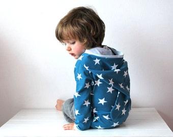 SALE - Blue star kids hoodie 18-24 sweater jumper jersey knit soft teal