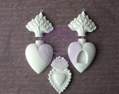 Prima Sandra Evertson Relics And Artifacts Collection Archival Cast Flaming Hearts Ex Votos II Plaster Casts