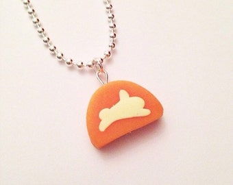 Carrot soap Lush inspired necklace pendant polymer clay handmade ooak handcrafted kawaii pendant