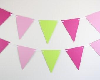 Banner // baby shower decor, birthday parties, watermelon, pennant banner, flag banner (SET OF 2)