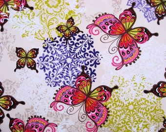 2113 - 1 yard Cotton fabric  - Butterfly
