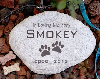 Engraved Pet Memorial Garden Stone Personalized In Loving Memory Sympathy Cat Dog