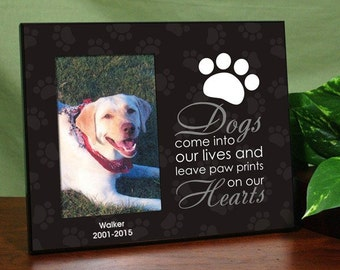 Personalized Pet Dog Memorial Printed Frame Sympathy Gift