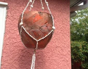 vintage shell plant hanger