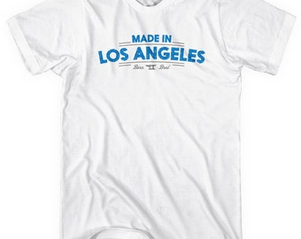 Made in Los Angeles V2 T-shirt - Men and Unisex - XS S M L XL 2x 3x 4x - Los Angeles Shirt - 4 Colors