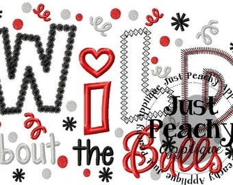 Wild About the Bulls Embroidery Designs Buy 2 for 4! Use Coupon Code 50OFF