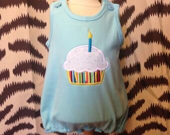 Blanks Boutique 12M Bubble w/ Cupcake Applique