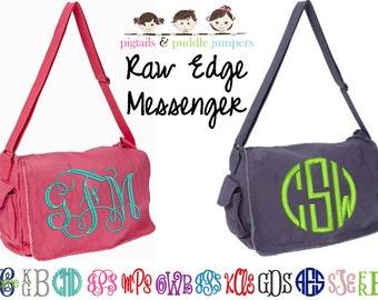 Monogram Messenger Bag- Canvas Cross-body bag