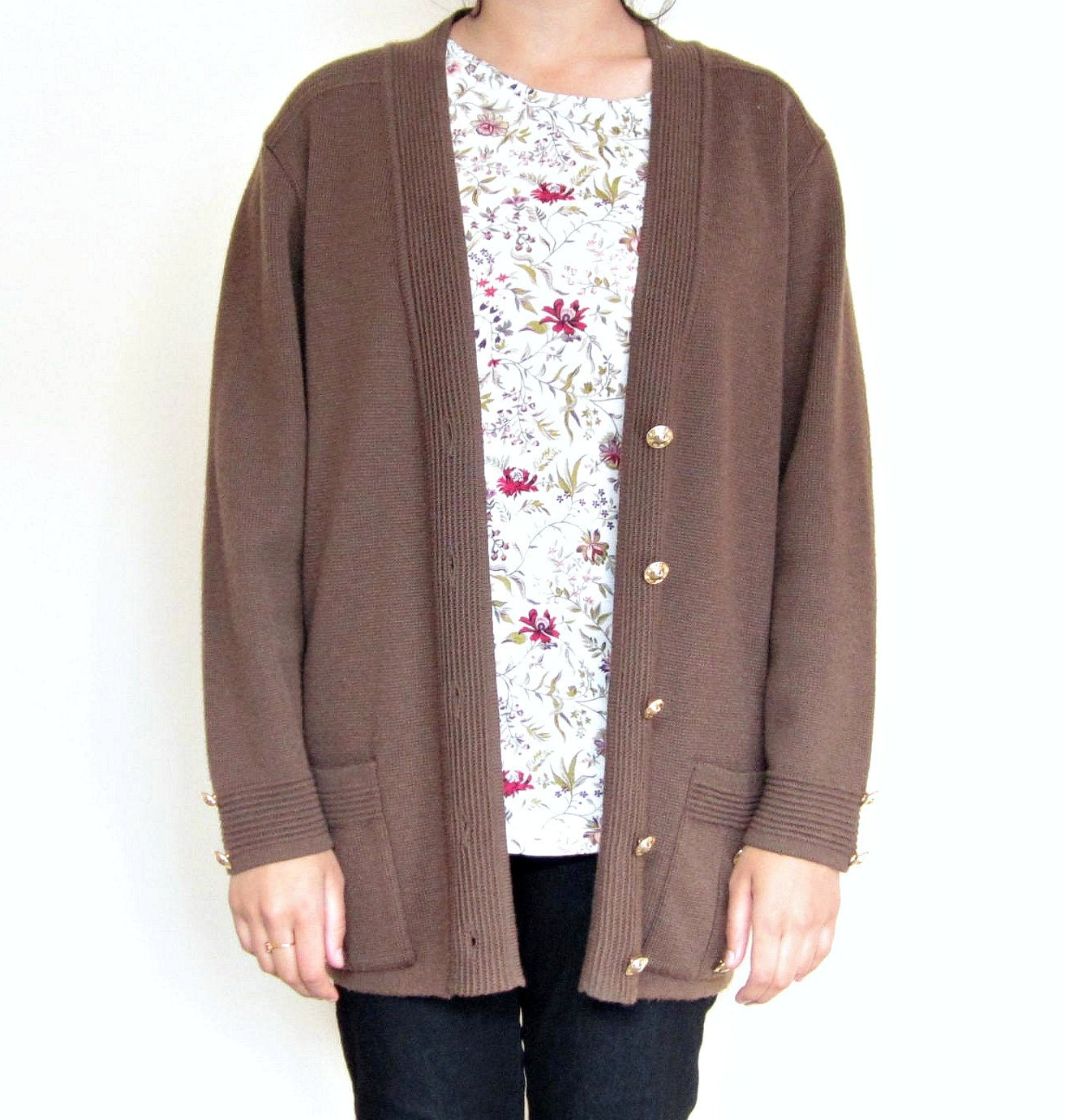 Womens Brown Cardigan 27