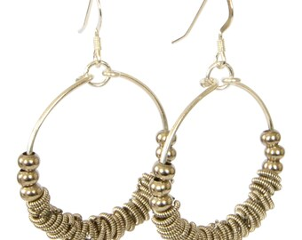 Staccato -  Guitar String Hoop Earrings