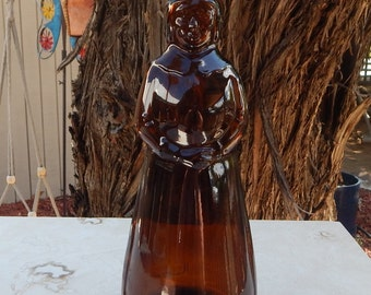 Mrs. Butterworths Amber Glass Syrup Bottle