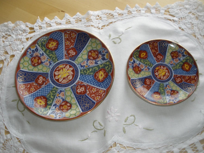 Imari Ware Japan Two Beautiful Vintage Decorative Plates 6