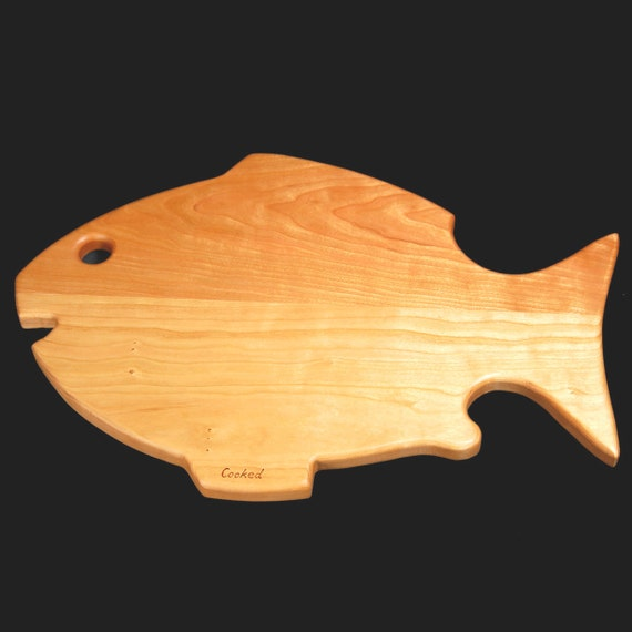 items similar to fish cutting board on etsy