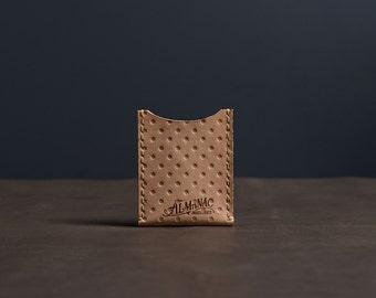 Leather Card Case / Wallet - Natural Veg Tan Dot