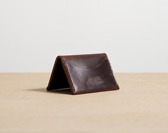 Three Pocket Folded Wallet - Brown Chromexcel Leather