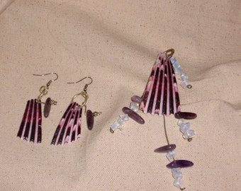 Pendant and earring set.