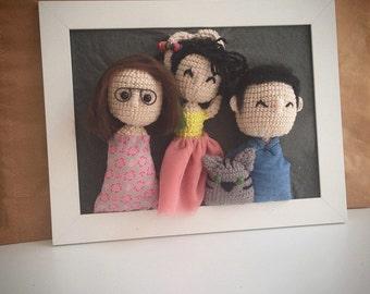 crowded crochet frames