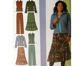 Skirt Pattern Jacket Pattern Plus Size Pants Simplicity 4375 Khaliah Ali Collection