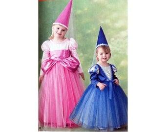 Princess Costume, Pattern, Simplicity 2569,  Children's Costume, Size 4 to 8, Witch Dress, Dancer Costume, Halloween Costume, Uncut