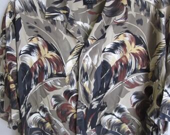Men's Hawaiian Shirt  vintage silk beach floral print L large