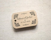 Vintage Inspired Floral Personalized Gift Tags - Rustic Wedding Favor Tags - Succulent Wedding Favor Tags - Set of 24 (Item code: J320)