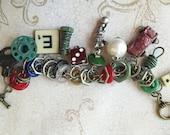 Industrial Chic Metal Urban Mixed Media Altered Art Steampunk Charm Bracelet Jewelry
