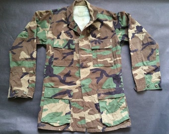Vintage Army Extra Long Camouflage Jacket