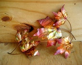 Vintage metal leaves autumn home decor wall hanging