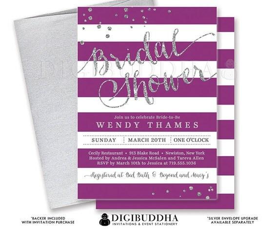 Diy purple bridal shower invitations 28 images printable gold silver bridal shower invitation stripes printable recent posts filmwisefo